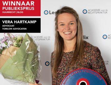 Tomlow Advocaat Vera Hartkamp wint publiekprijs blog huurrecht 2019
